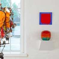 """""""Melting Point"""" Installation view, with Raymon Elozua (left), & Robert Silverman (right) 2021"""