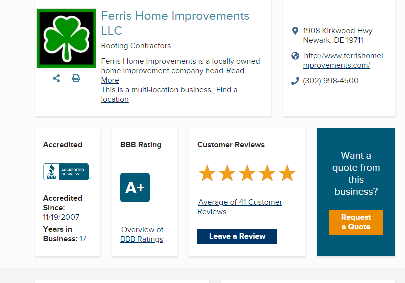 angies list reviews ferris home improvements