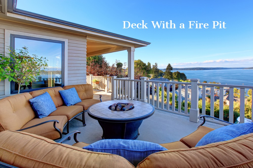 Deck with a Fire Pit