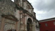 Church damaged by earthquake in Guatemala