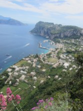 View of Capri Island from Phoenician Steps