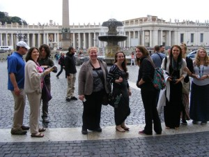 Study Abroad Group in Rome. Courtesy of the photographer.