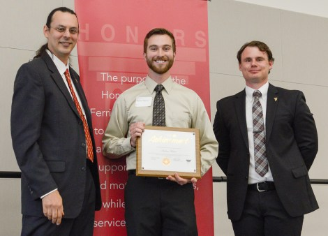 Outstanding Scholar finalist, Andrew Watson. Courtesy of Ferris State University's SmugMug.