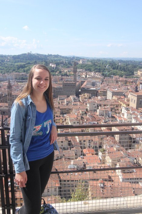 Samantha Neering in Florence, Italy. Courtesy of Honors at Ferris State University Student, Samantha Neering.
