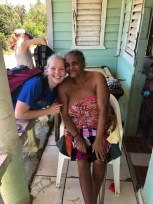 Madeline Keely with Dominican resident. Courtesy of honors student, Madeline Keely.