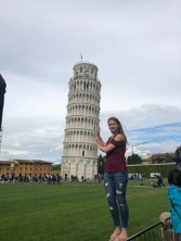 Ayanna Williams in front of the Tower of Pisa. Courtesy of Honors student, Ayanna Williams