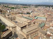 The view from the top of St. Peter's Basilica, Photo by Zachary Kramer, used with permission by the Honors Program at Ferris State