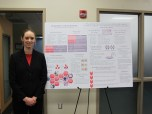 Kelsey Bott with her poster. Courtesy of the photographer.