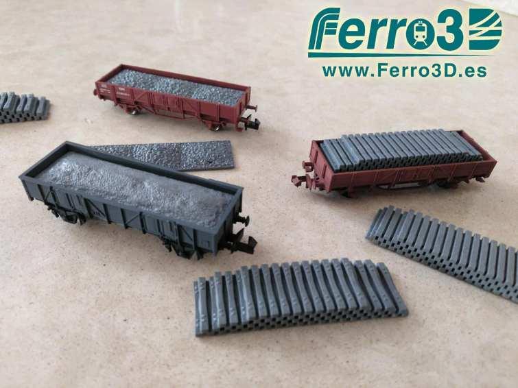 Carga de Carbón Renfe escala N Ferro3d