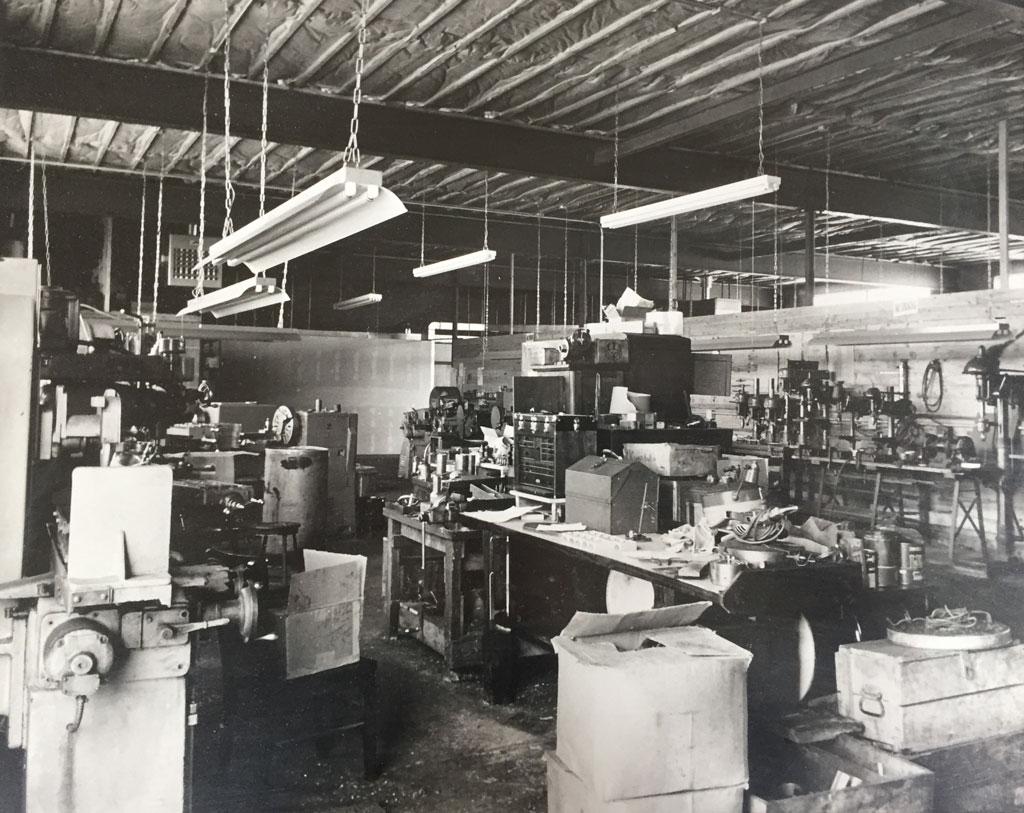 Old machine shop floor