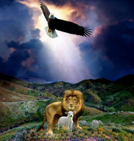 Lion Lamb Eagle