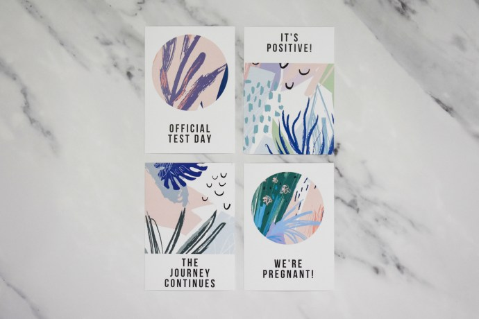 IVF Milestone Cards - Abstract