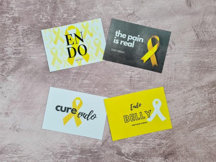 Endometriosis awareness and affirmation cards