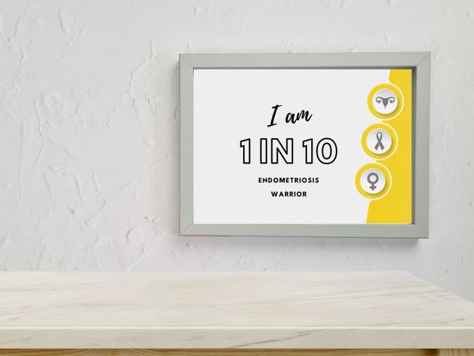 Endometriosis prints - I am 1 in 10