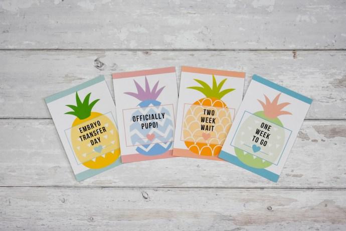 IVF Milestone Cards - Pineapple Illustrations