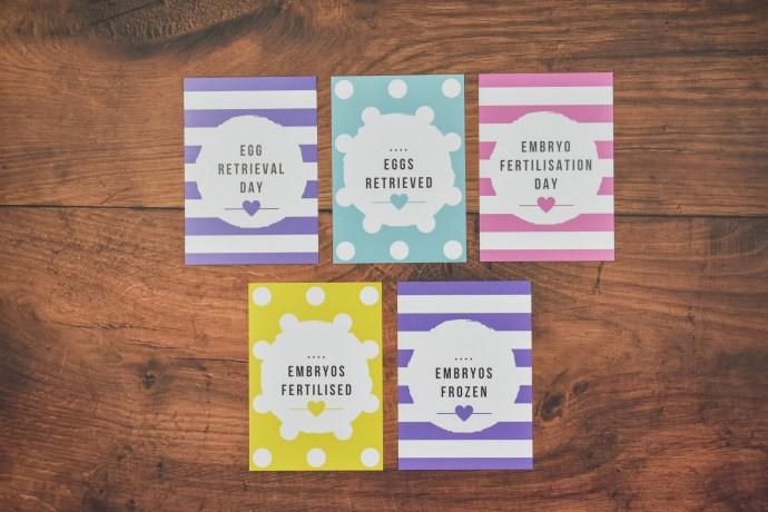 IVF Milestone Cards - Spots & Stripes Bright