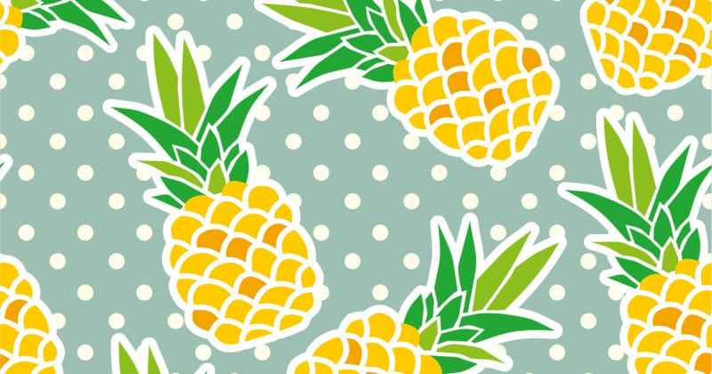 Pineapple background - green