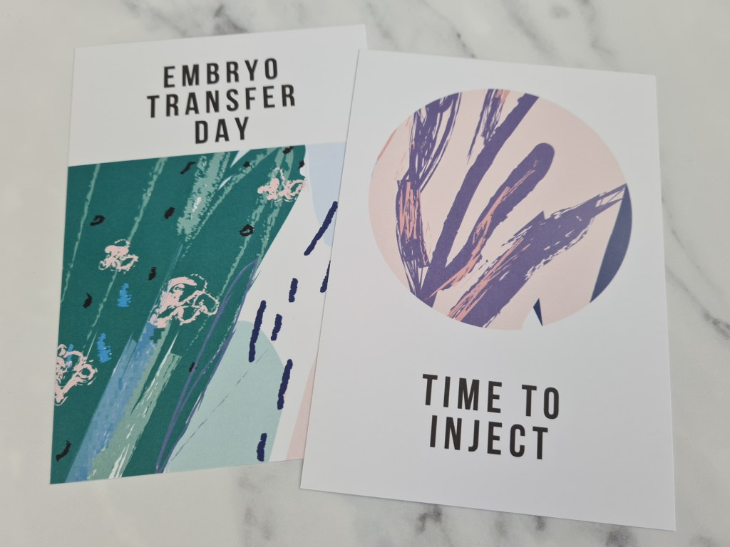 IVF Milestone Cards - Abstract Edition