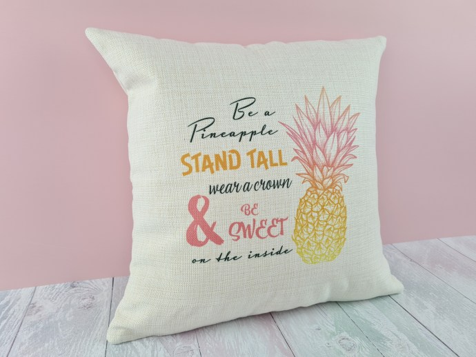 Pineapple IVF cushion cover - linen-look