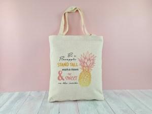Pineapple IVF tote bag - linen-look