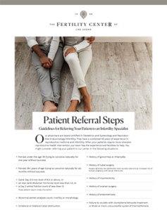 Patient Referral Steps