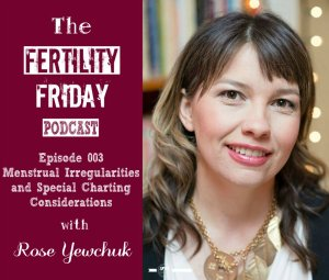 FFP 003 | Identifying Menstrual Irregularities with Fertility Awareness | Special Charting Considerations | Rose Yewchuk