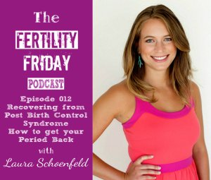 FFP 012 | Recovering from Post-Birth Control Syndrome | How to get your period back | Laura Schoenfeld