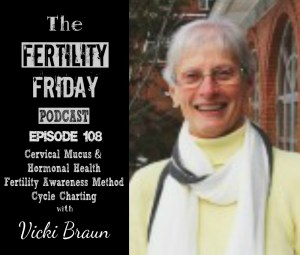 FFP 108 | Cervical Mucus & Hormonal Health | Fertility Awareness Method Cycle Charting | Diet, Gut Health & Fertility | Vicki Braun