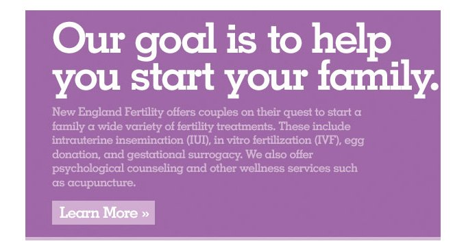 New England Fertility, a leader in Infertility Care and Research