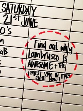 """@LadroRestaurant: """"Lambrusco is awesome."""""""