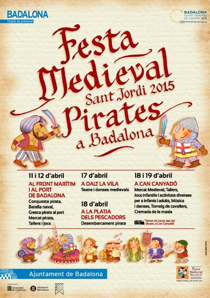 original CARTELL DINA3 sense sangs Festa medieval 2015