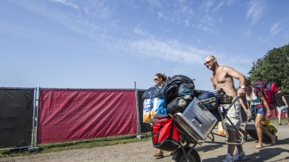 Lowlands camping