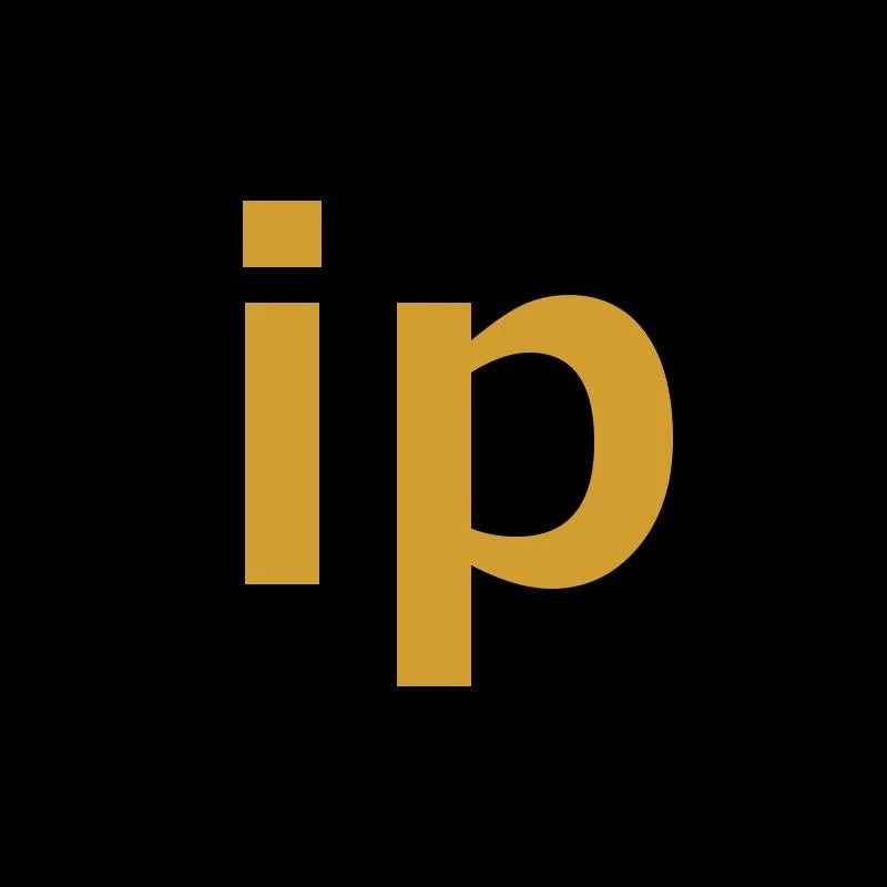 """Logo with the letters """"ip"""""""