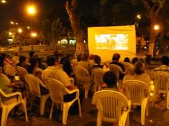 Muestra de cortos en la Plaza Ruiz Gallo