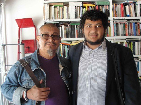 Los poetas Santos López y Luis Perozo Cervantes