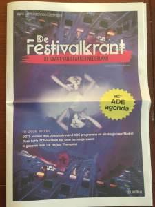 Tekst festivaldop op Festivalkrant