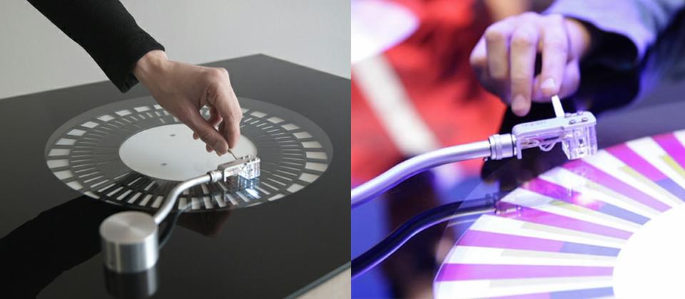Soundmachine, un tocadiscos que sustituye la aguja por un rayo de luz.