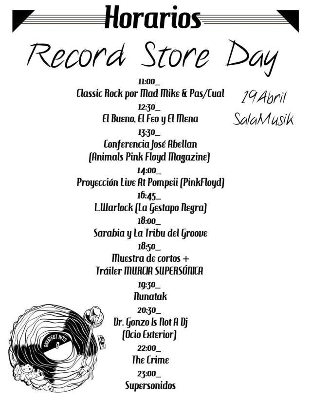 Horarios Record Store Day Murcia