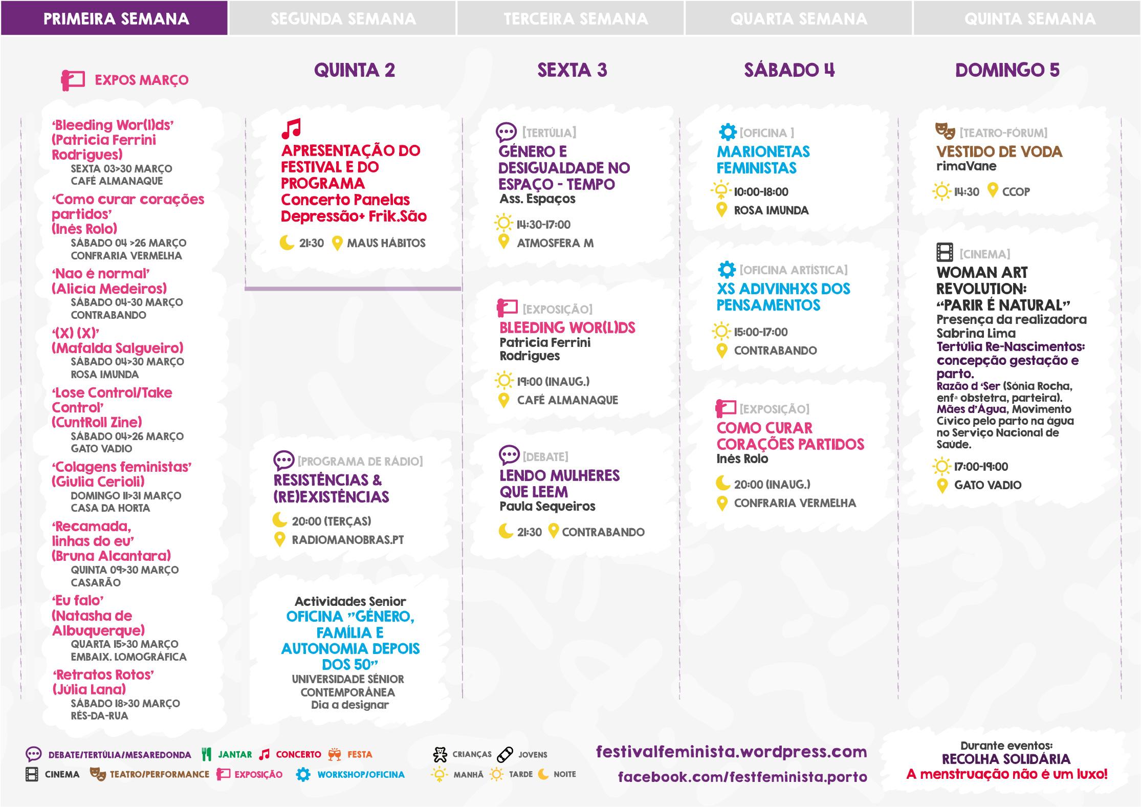 II Festival Feminista do Porto (2017) - Calendário Semana 1