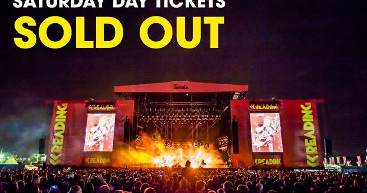 Saturday day tickets have now SOLD OUT for Reading '16 …
