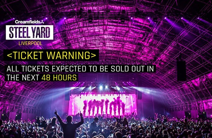 All tickets for this Saturday's Creamfields Steel Yard with Martin Garrix will...