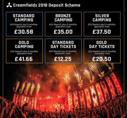 #Creamfields2018 is our most affordable year yet with our brand new 6 part depo...