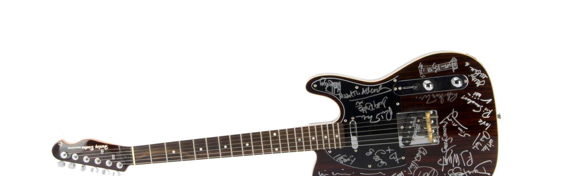 Fairport Convention / Autographs, A Harvey Bentone Guitar signed by Judy Dyble, Richard Thompson,