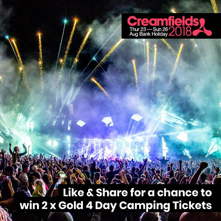 Didn't get a  #Creamfields2018 ticket in your Christmas stocking??...
