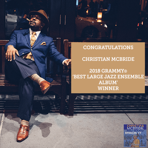 Congratulations to Christian McBride on winning at the  #GRAMMYs for 'Best Lar...
