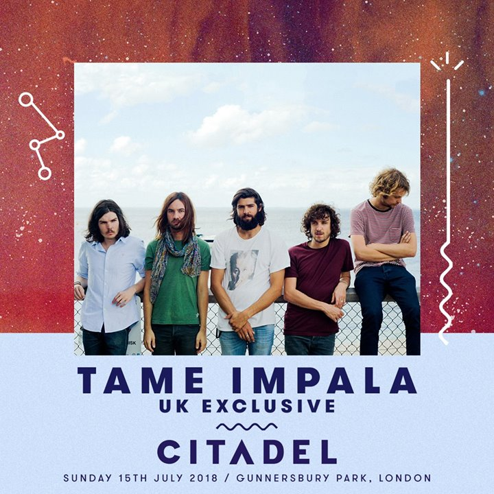 In case you missed it, Tame Impala will be headlining  #Citadel18 as a UK Exclu...