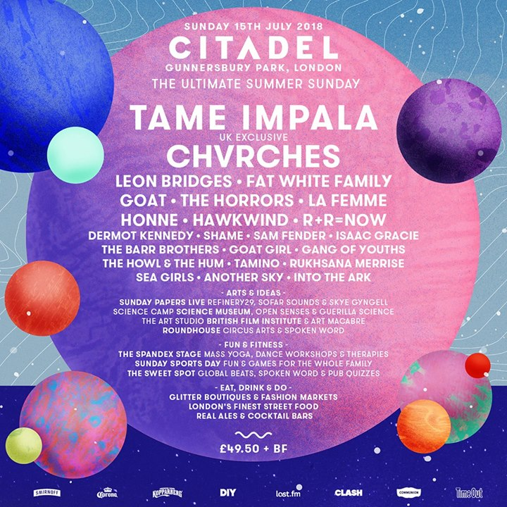 Look up…it's landed. Your  #Citadel18 line-up so far. Dive in and discover…...
