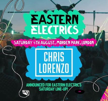 Chris Lorenzo Announced For Saturday Line-up!
