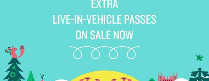 In case you missed it... we've got more Live-in-Vehicle Passes on sale now! ...