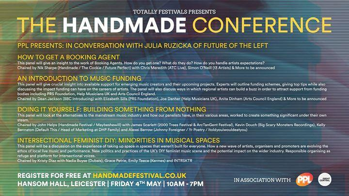 As well as the main festival we're introducing the first Handmade Conference thi...